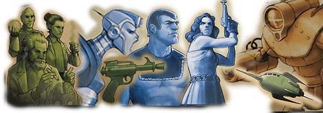 Algunos ejemplos del arte del juego: personajes, armas, monstruos...