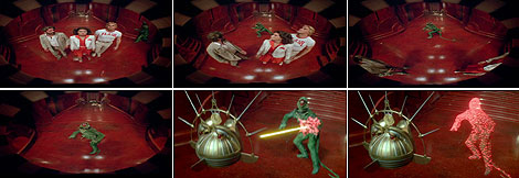 El momento de gloria del hombre-lagarto, en seis fotogramas. Impagable