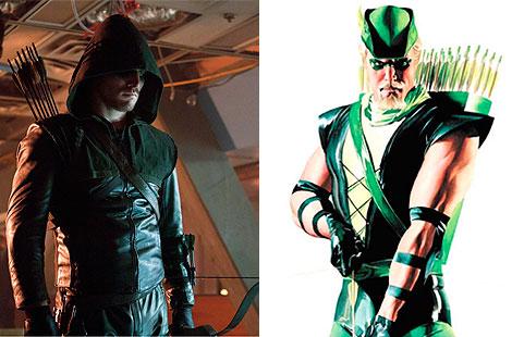 Oliver Queen, en versión TV y versión cómic. Hay más...