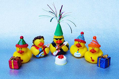 Una pequeña fiesta | Foto: http://duckshow.com/