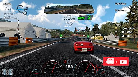 Pantalla durante el reto del Rally de la Sierra, al más puro estilo arcade