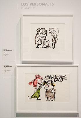 Bocetos de dos momentos de 'Up'