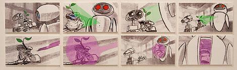 Como si fuera un cómic: 'storyboard' de una escena de 'Wall-E'