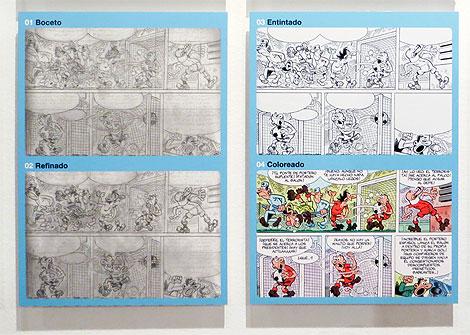Distintas fases de creación de un cómic