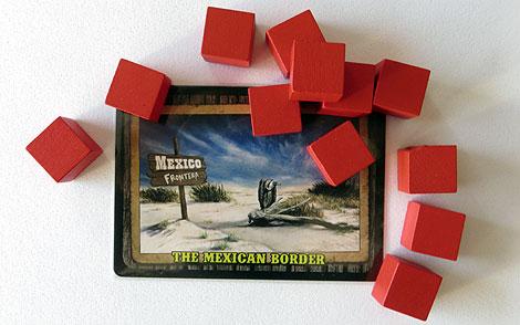 Esta es la frontera mexicana, con sus guardias. Todos, como ven, cuadrados