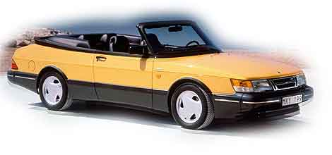 Saab 900 amarillo descapotable. El 'car' de la primera historia
