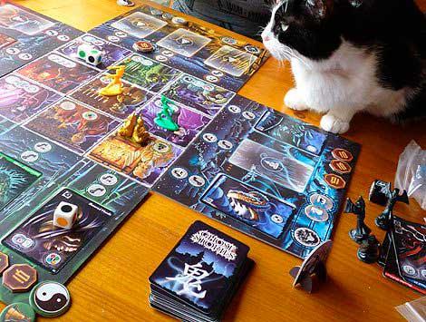 Foto de archivo de una partida de GS con Wu Feng reencarnado en gato y vigilando