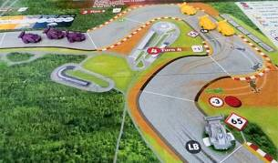 GP de Hungría con los coches originales del juego