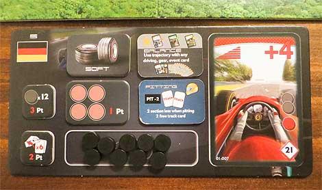 'Cuadro de mandos' del coche en el Race! Formula 90, en modo avanzado