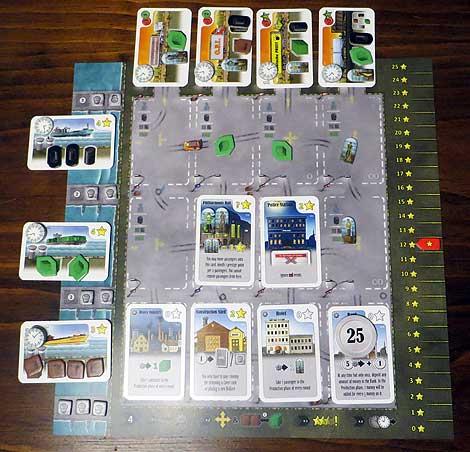 Tablero-puerto individual mediada una partida.