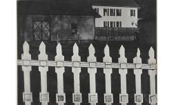 Valla blanca, Port Kent, Nueva York, 1916 (negativo), 1945 (copia) Copia a la gelatina de plata Philadelphia Museum of Art, Filadelfia. The Paul Strand Retrospective Collection, 1915-1975, donación de los herederos de Paul Strand