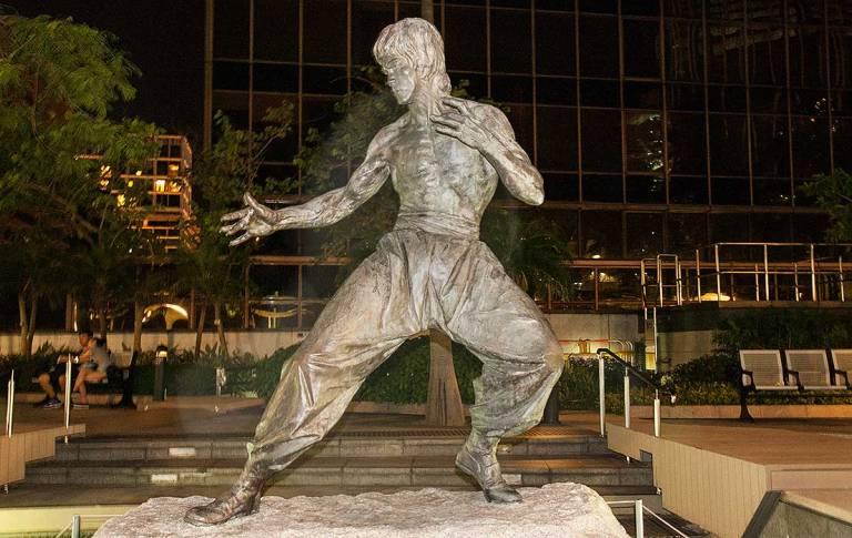 Bruce Lee, en modo 'más vale que no te hagas el tonto'.