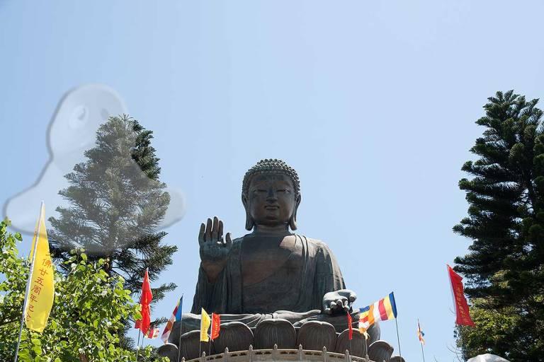 El Buda gigante de Lantau: 34 metros de estatua.