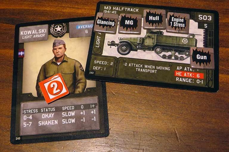 Fin de la batalla: estrés para el comandante y averías para su unidad de transporte.