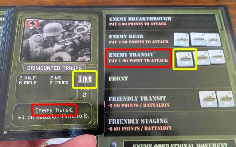 La carta de batallón indica la zona virtual en la que se halla la unidad enemiga.