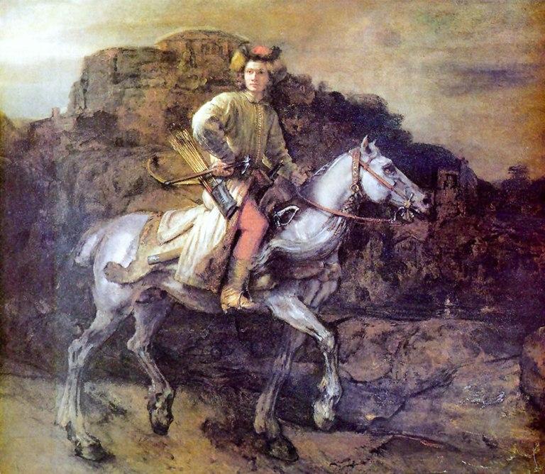 'El jinete polaco', pintura de Rembrandt que le da nombre al libro.