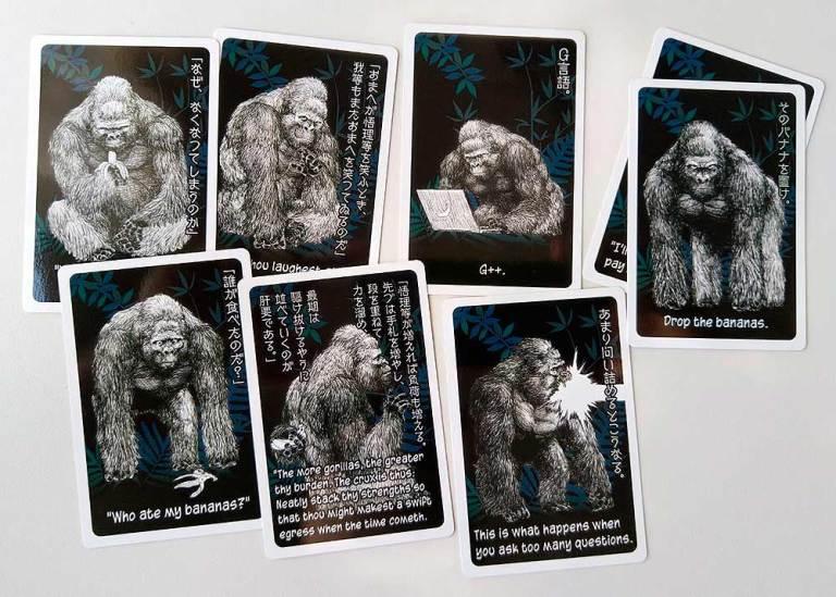Todas las cartas de gorila son diferentes: los textos son de ambientación
