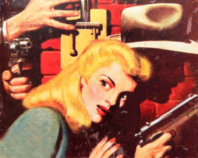 El arte en Pulp Detective recuerda a toda la producción clásica de cine negro.