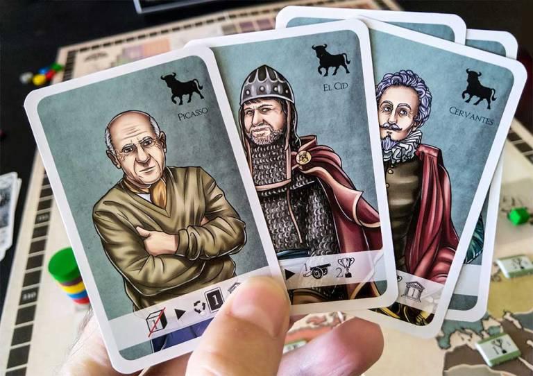 Los consejeros de España: Picasso, El Cid y Cervantes, entre otros.